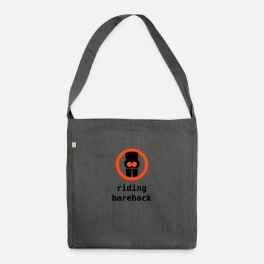 Humor riding bareback - Shoulder Bag recycled