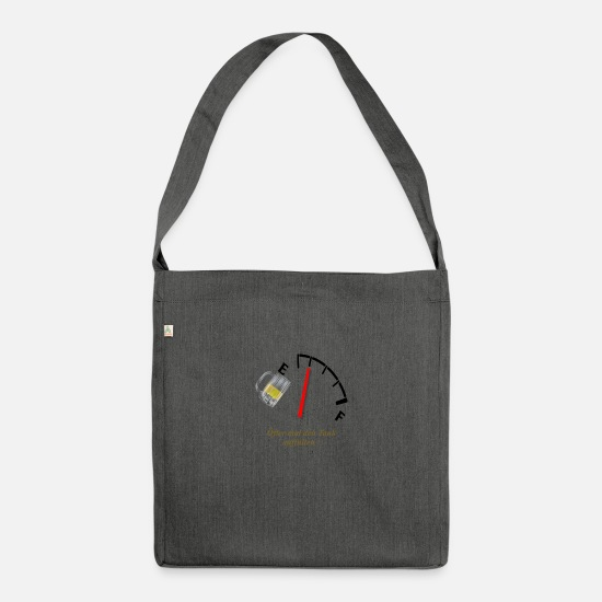 Fill Up Bags & Backpacks - Oefter fill up the tank - Shoulder Bag recycled dark grey heather