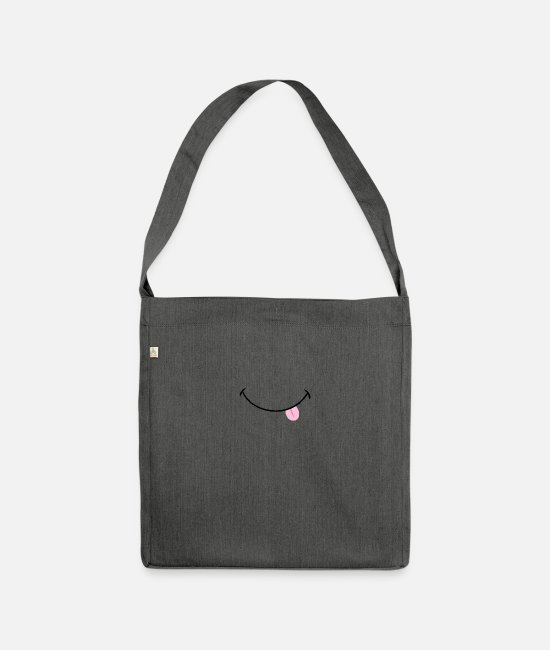 Humour Bags & Backpacks - Fun - Shoulder Bag recycled dark grey heather