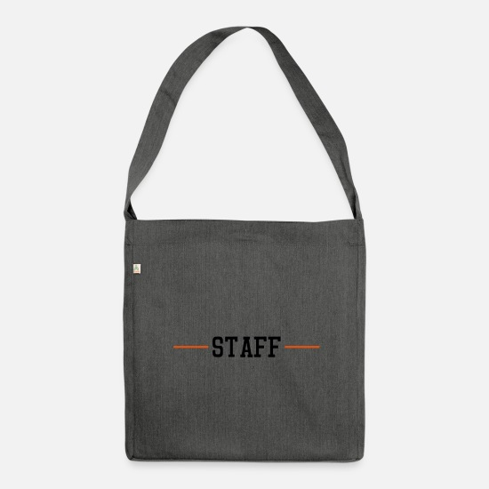 Employee Bags & Backpacks - staff stroke - Shoulder Bag recycled dark grey heather