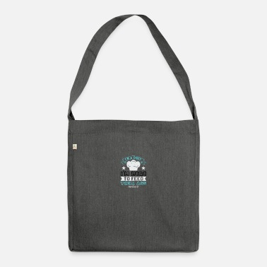Motivational I'm chef, I'm here to feed your ass not kiss it - Shoulder Bag recycled