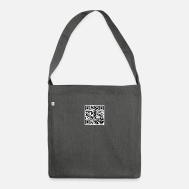 Rick Rolling QR Code - Shoulder Bag recycled