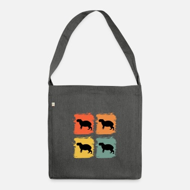 Ren Capybara Wildlife Animal Retro Pop Art Gaveidee - Skuldertaske af recycling-material