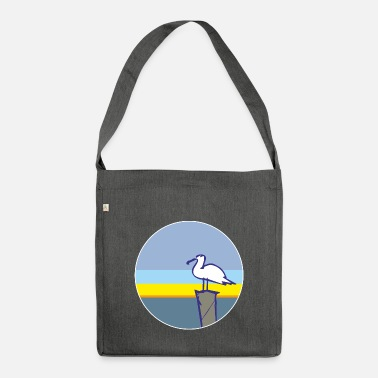 Harbour Seagull by the sea - Shoulder Bag recycled