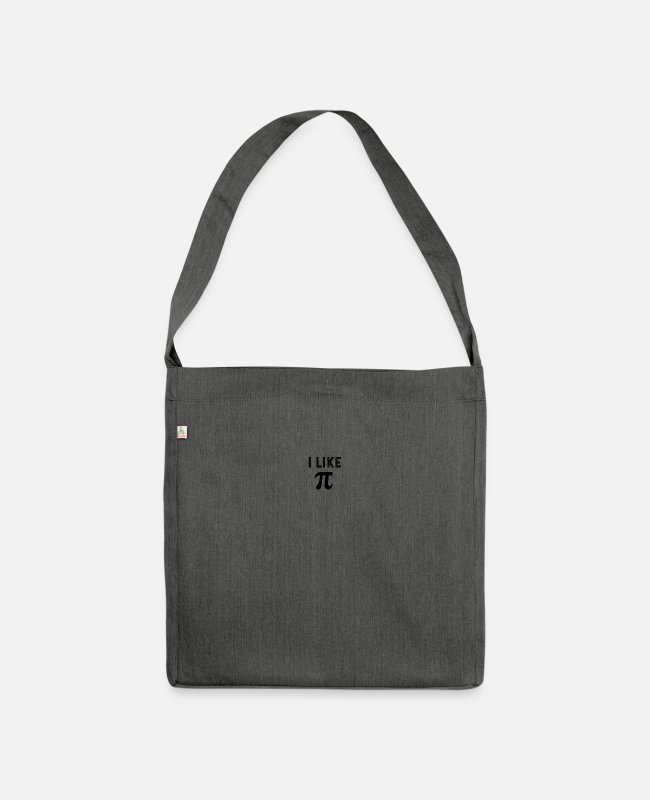 Distressed Bags & Backpacks - I like pi - Shoulder Bag recycled dark grey heather