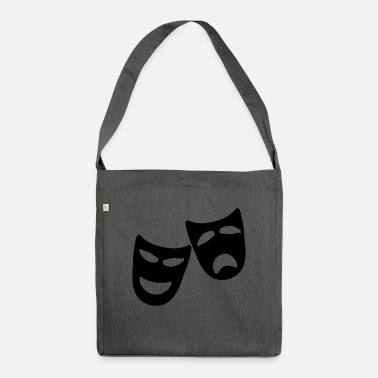 Tragedy Tragedy and Comedy - Shoulder Bag recycled