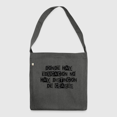 Phrases - Shoulder Bag made from recycled material