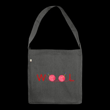 Wolle - Schultertasche aus Recycling-Material