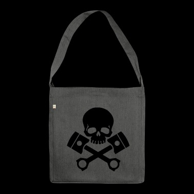 gas skull - Shoulder Bag made from recycled material