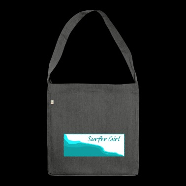 Surfer girl - Shoulder Bag made from recycled material