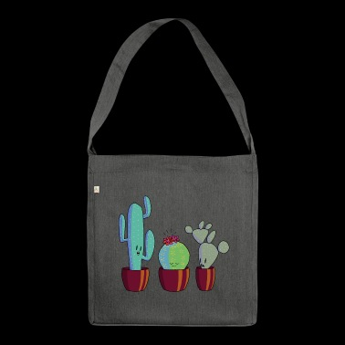 Cactus in bloom - Shoulder Bag made from recycled material