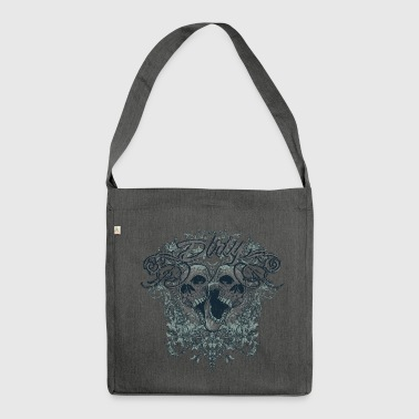 Dirty Totenkopf Gothic T-Shirt - Schultertasche aus Recycling-Material