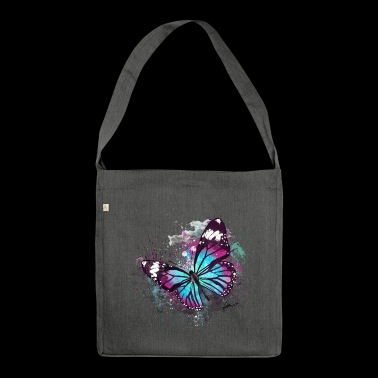 Beautiful Butterfly Watercolour - Shoulder Bag made from recycled material