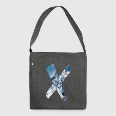 X - Berg | Minimalismus - Schultertasche aus Recycling-Material