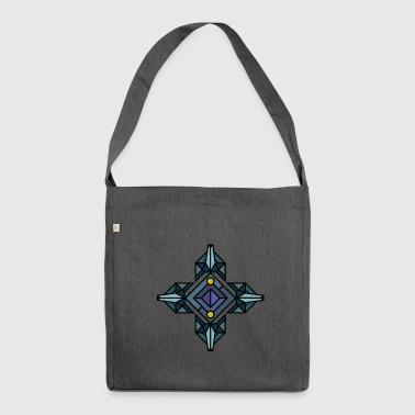 Wolf, wolfpack, wolves, geometric style, triangle, - Shoulder Bag made from recycled material