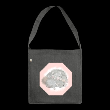 a snuggle of hamsters - Shoulder Bag made from recycled material