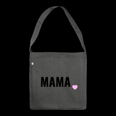 Mama liebe and love - Borsa in materiale riciclato