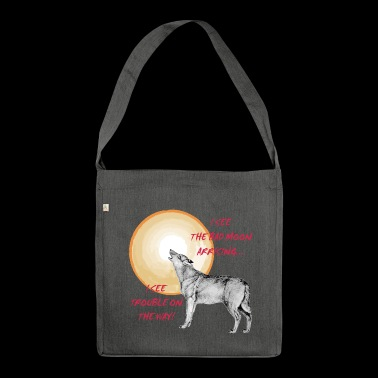 Wolf full moon - Shoulder Bag made from recycled material
