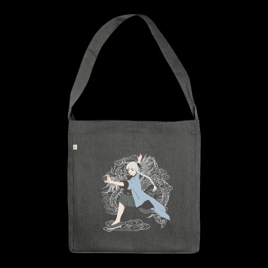 Or chi kung fu girl - Shoulder Bag made from recycled material