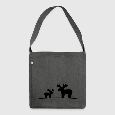 Moose couple - Shoulder Bag made from recycled material