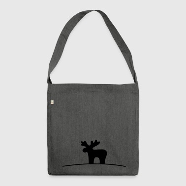 Moose silhouette - Shoulder Bag made from recycled material