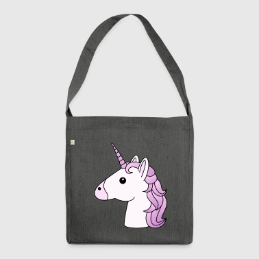 testa Unicorno in lilla - Borsa in materiale riciclato