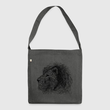 Lion Scribble - Shoulder Bag made from recycled material