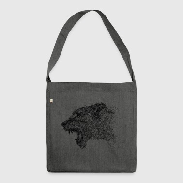 lioness Scribble - Shoulder Bag made from recycled material