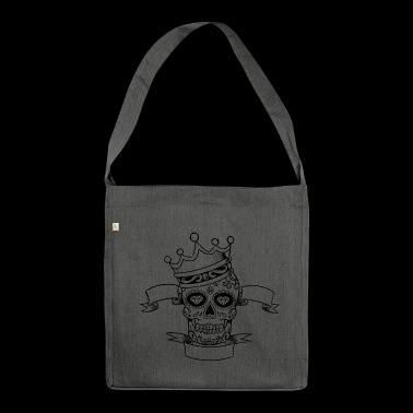 Mexican Skull Corona - Shoulder Bag made from recycled material