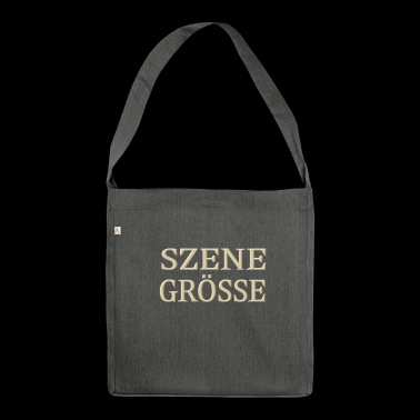Szene Groesse - Schultertasche aus Recycling-Material