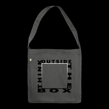 Think Outside The Box - Shoulder Bag made from recycled material