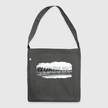 Würzburg from favorite region (skyline) - Shoulder Bag made from recycled material