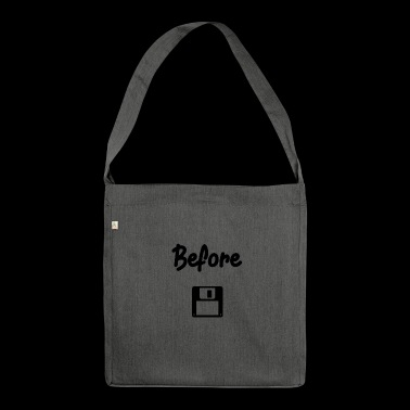 Before floppy disk - Shoulder Bag made from recycled material