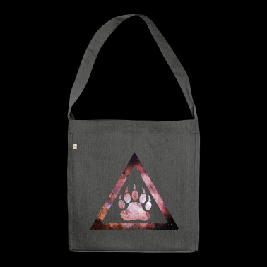 Galaxy Bear Triangle - Schultertasche aus Recycling-Material