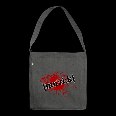 Splatter music - Shoulder Bag made from recycled material