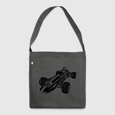 Race Car / Race Car 02_black - Shoulder Bag made from recycled material