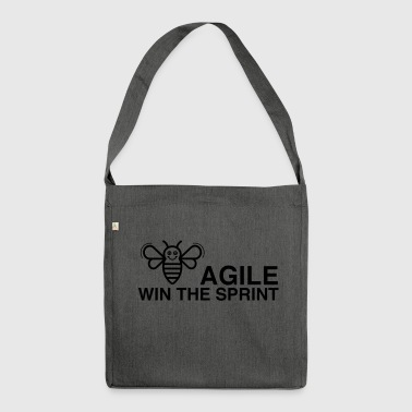 BE AGILE WIN THE SPRINT - Shoulder Bag made from recycled material