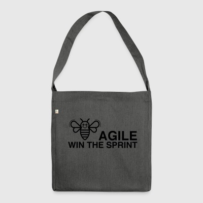 BE AGILE WIN THE SPRINT - Schultertasche aus Recycling-Material