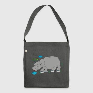 Hippo meadow - Shoulder Bag made from recycled material