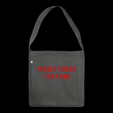 TWERKFORFOOD - Red - Shoulder Bag made from recycled material