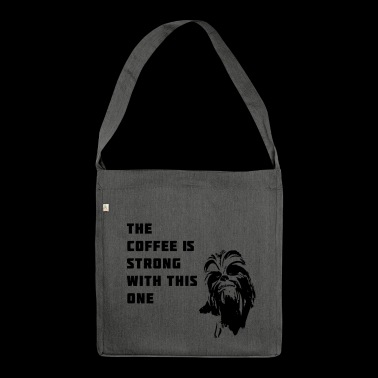 coffee chewbacca strong dark dunkle seite - Schultertasche aus Recycling-Material