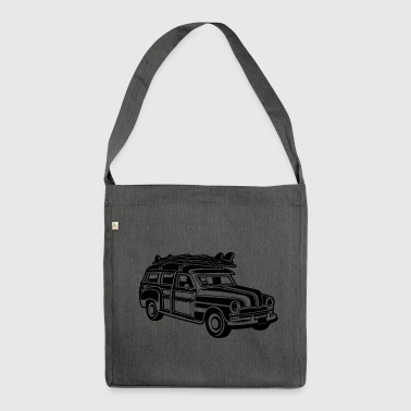 Chevy Cadilac Woodie / Vintage Kombi 01_black - Borsa in materiale riciclato