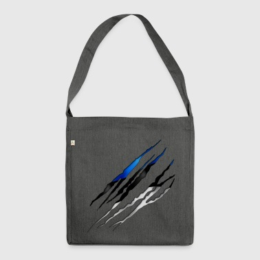 Estonia Slit open 001 AllroundDesigns - Shoulder Bag made from recycled material
