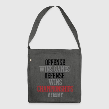 Offense wins gamesrevolution wins championships - Shoulder Bag made from recycled material