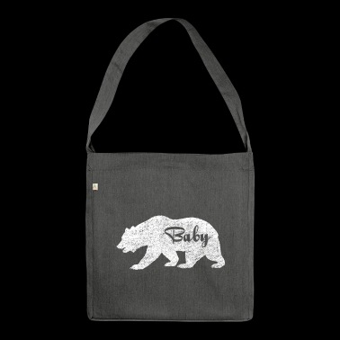 Baby Bear.Gifts for Babies. Baby Camping.Pregnancy - Shoulder Bag made from recycled material