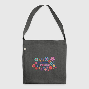 Flower power - Shoulder Bag made from recycled material