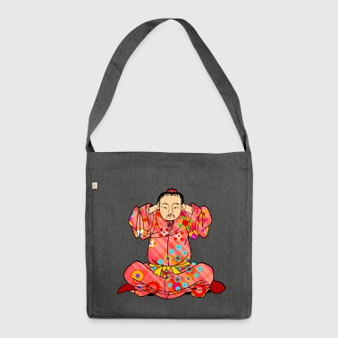 Qigong exercise to treat dizziness - Shoulder Bag made from recycled material
