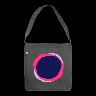 Psychedelic Circles - Shoulder Bag made from recycled material