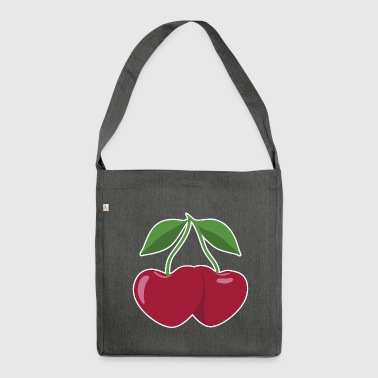 cherries and hearts - Shoulder Bag made from recycled material