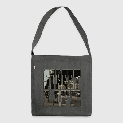 Street life - Shoulder Bag made from recycled material
